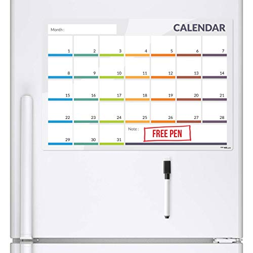 Calendario Con Note.Ckb Ltd Calendario 31 Dia Frigorifico Magnetica Con Rotulador Pizarra Blanca Pen Iman Para Pizarra Pizarra Blanca Oficina Tablon Calendario