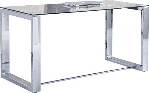 f8ac2b1fd1b1a Due-home 2454140031 - Table Desk Office - Color - Chrome Metal ...