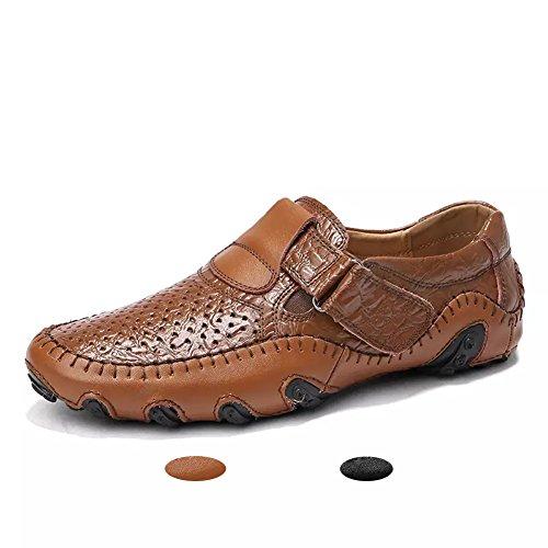 d34fd53a6aa Hombre Mocasines Clásico Cuero Zapatos Verano Casual Elegante Transpirable  Antideslizante Oficina Shoes
