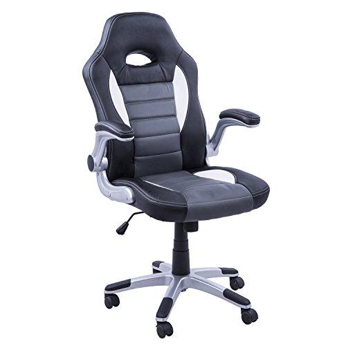 Homcom Silla oficina ejecutiva deportiva sillón estudio dirección ...