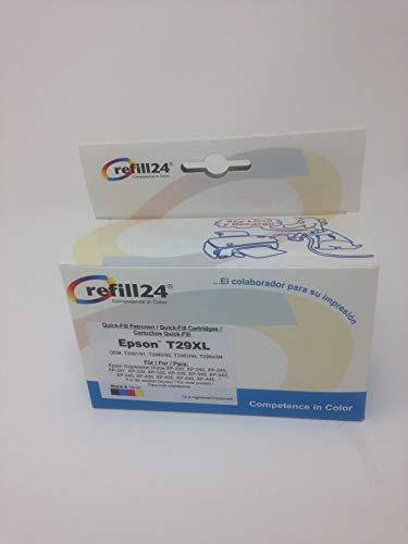 Kit de recarga para cartuchos de tinta Epson (Non OEM) serie 29 / 29XL  auto-reseteables para impresoras Expression Home XP 235 / XP 332 / XP 335 /  XP