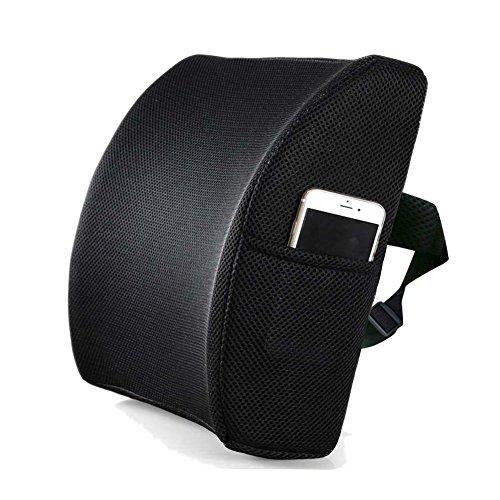LIVEHITOP Pillow Lumbar Cushion Memory Foam with Strap, Ergonomic ...