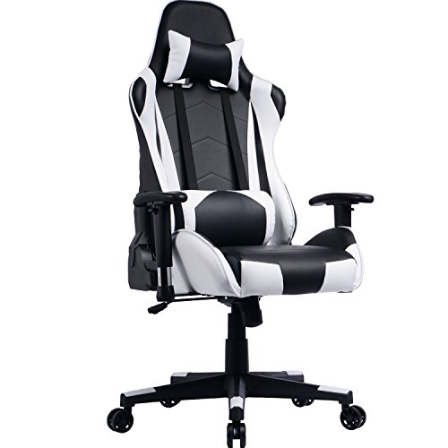 Asiento Oficina.Prime Selection Products Silla De Oficina Gaming Asiento Gamer Con Alto Respaldo Reclinable Racing