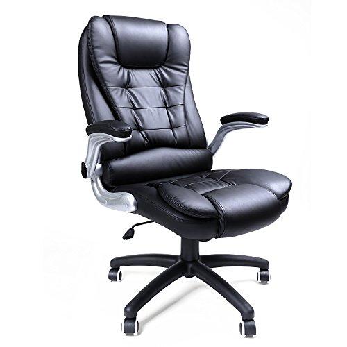 Songmics silla de oficina con respaldo alto reposacabezas for Sillas de oficina comodas
