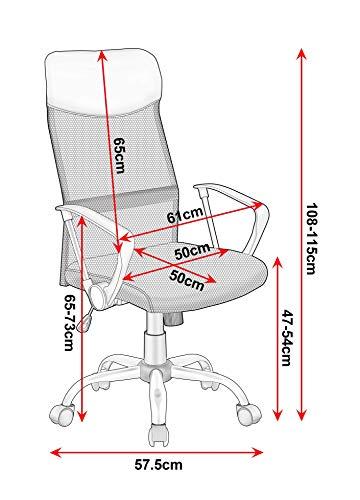 cual es la altura de una silla de oficina