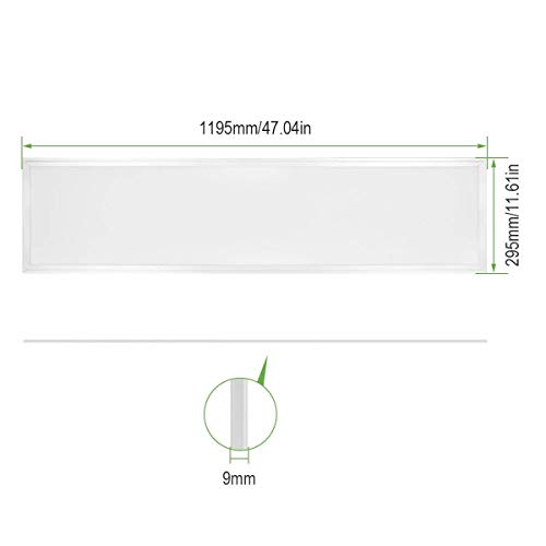 l/ámpara de techo Blanco fr/ío 6000K LE Panel LED 36W Equivalente 80W Fluorescente Luz de techo Oficina Sal/ón Despacho Sala de reuni/ón pack de 2
